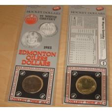 1983 Edmonton Oilers Wayne Gretzky NHL Hockey Dollar