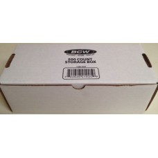 One BCW 500 Count Corrugated Cardboard Baseball Trading Card Box