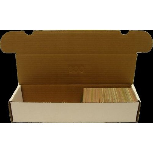 800 Count Cardboard Baseball Trading Card Storage Boxes