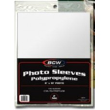 Pack of 100 BCW 8 x 10 Photo Soft Poly Sleeves 8X10 Covers