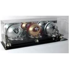 BCW Deluxe Acrylic Triple Mini Helmet Display - With Mirror