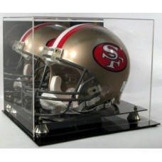 BCW Deluxe Acrylic Football Helmet Display With Mirror Back