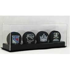 BCW Deluxe Acrylic Black Base 4 Hockey Puck Display Holder