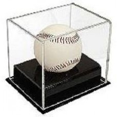 BCW Deluxe Acrylic Black Base Baseball Display Case