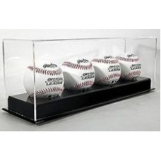 BCW Deluxe Acrylic Black Base 4 Baseball Display Case