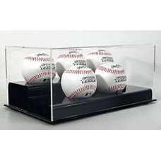 BCW Deluxe Acrylic Black Base 5 Baseball Display Case