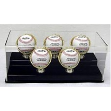 BCW Deluxe Acrylic Five Gold Glove Baseball Display Case
