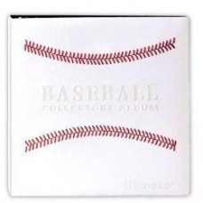 "BCW 3"" Baseball Trading Card Album White w/ Red Stitches binder"