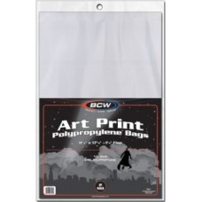 Pack of 100 BCW 11 x 17 Art Print Archival 2-Mil Poly Bags 11X17