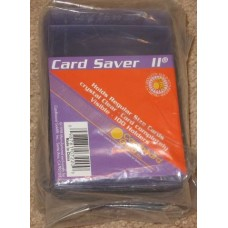Pack of 100 CBG Card Saver II Semi Rigid Trading Card Holders