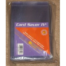 Pack of 100 CBG Card Saver IV Semi Rigid 4x6 Photo Holders 4 x 6