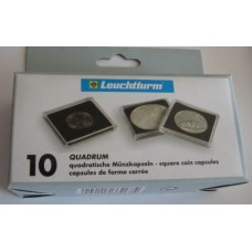 Pack of 10 Lighthouse Quadrum 21mm Square Coin Capsules