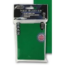 50 Max Protection Deck Guards Flat Green Small / Yugioh Size