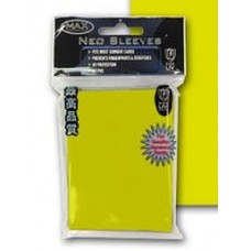 50 Max Protection Deck Guards Flat Yellow Small / Yugioh Size