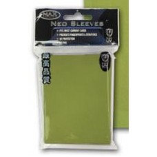 50 Max Protection Standard Game Card Deck Guards - Flat Lime