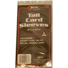 Pack of 100 BCW Tall / Widevision Trading Card Soft Sleeves