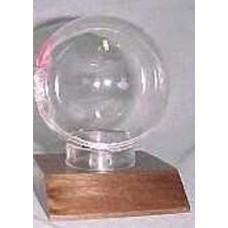 BCW Real Walnut Wood Base Baseball Holder