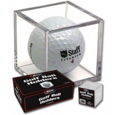 One BCW Clear Plastic Golf Ball Square Holder Cube Golfball