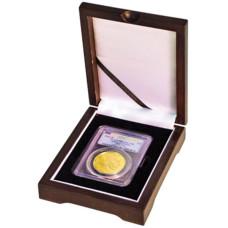 Universal Wooden Single Graded Coin Slab Presentation Box