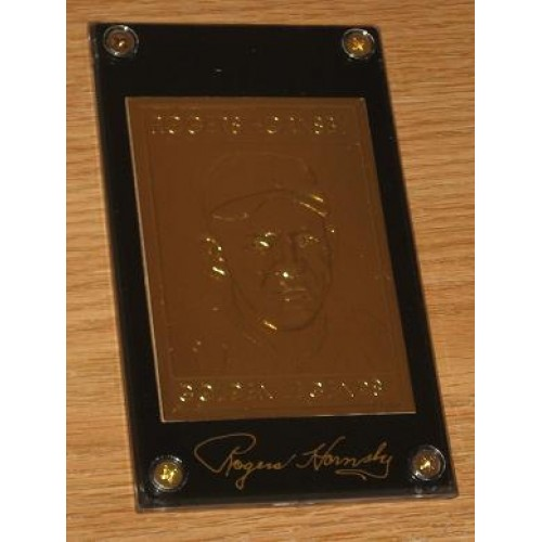 Lot 15 22kt Golden Legends Baseball Cards Rogers Hornsby