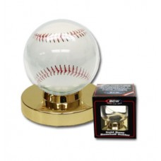 One New BCW Gold Base Baseball Holder Ball Display