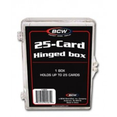 BCW Hinged 25 Count Baseball Trading Card Box #Hb25