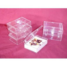 Case of 250 : 50 Ct Hinged Plastic Trading Card Boxes