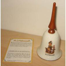 Mi Hummel Wayside Harmony Decorative Bell With Wooden Handle