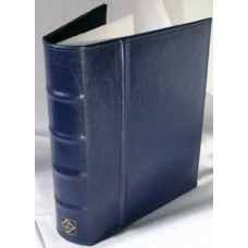 Lighthouse Blue Postcard Album with 50 Clear 2 Pocket Pages