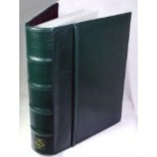 Lighthouse Green Postcard Album with 50 Clear 2 Pocket Pages