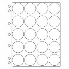 2 Lighthouse Encap Clear Pages for 40/41mm Round Coin Holders