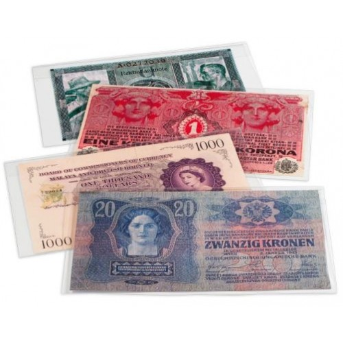 Rigid Plastic For Modern Currency Banknotes Pack of 25 BCW Topload Holders