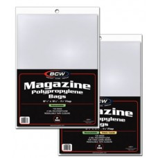 Case of 1000 BCW Resealable Magazine Bags - Thick - 8 7/8 x 11