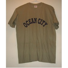 New Green Large Ocean City T-Shirt With Chest Logo