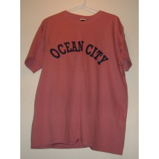 New Red Large Ocean City T-Shirt With Chest Logo