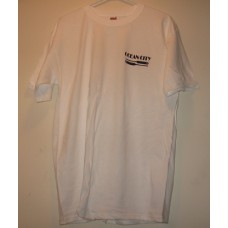 New White Extra Large Ocean City T-Shirt With = Paddles Logo