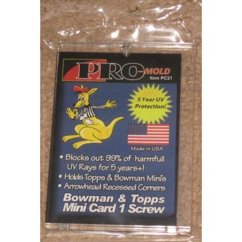 PC21 PROMOLD ONE SCREW PANINI STICKER /& TOPPS MINI TRADING CARD HOLDERS 10