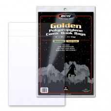 Pack of 100 BCW Resealable Thick Golden Comic Bags - 8X10 1/2