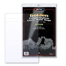 Pack of 100 BCW Resealable Golden Comic Bags - 7 5/8 x 10 1/2