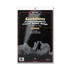 Pack of 100 BCW Golden Comic Bags - Thick - 8 x 10 1/2