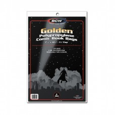 Pack of 100 BCW Golden Comic Book 2-Mil Poly Bags 7 5/8 x 10 1/2