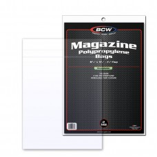 Pack of 100 BCW Resealable Magazine Bags - 8 3/4 x 11