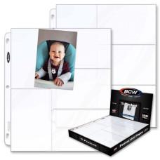Lot of 25 BCW Pro 5-Pocket 3.25x5.25 Postcard / Photo Album Pages