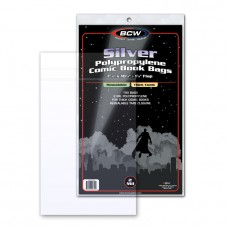 Pack / 100 BCW Resealable Silver Thick Comic Bags 7 1/4 x 10 1/2
