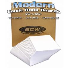 Case of 1000 Bulk Packed BCW Modern Comic Book Acid Free Backer Boards