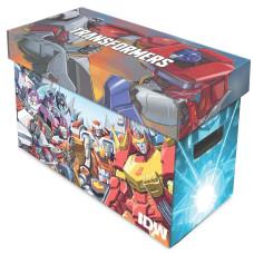 BCW Short Cardboard Comic Book Storage Box with Tranformers Artwork Design
