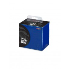 BCW Blue Deck Vault LX Leatherette Collectible Gaming Card Storage Box