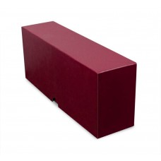 BCW Burgundy Slotted Graded Trading Card Storage Box - Holds 26 PSA Slabs