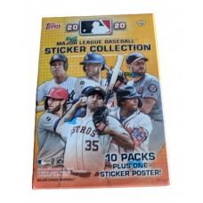 Factory Sealed 10 Pack Blaster Box 2020 Topps MLB Baseball Sticker Collection