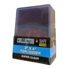 Pack of 25 Collector Safe 3x4 Standard Trading Card Hard Plastic Topload Holders